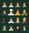 Icona della gente icone di professioni insieme di occupazione Fotografia Stock