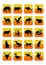 Icone 03 degli animali Fotografia Stock
