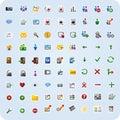 Icone di applicazione e del Internet Fotografie Stock