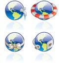Icone di The Globe impostate - elementi 54c di disegno Fotografie Stock Libere da Diritti