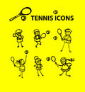 Icone di tennis Fotografia Stock