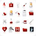 Icone mediche/insieme 1 Fotografia Stock Libera da Diritti
