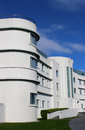 Iconic art deco midland hotel morecambe lancashire view of the front part of the style on the seafront in that was built by the Stock Photography
