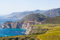 Iconic Bixby bridge in Big Sur, California Stock Images