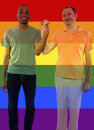 Iconic gay image style used in social media to celebrate legalization of same sex marriage Royalty Free Stock Photos