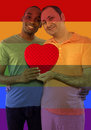 Iconic gay image style used in social media to celebrate legalization of same sex marriage Stock Image