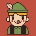 Iconic German Boy Mascot Royalty Free Stock Photo