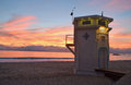 The iconic life guard tower on the main beach of laguna beach california image shows lifeguard during sunset this lifeguard was Royalty Free Stock Photo
