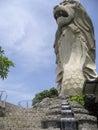 Sentosa island merlion statue singapore Royalty Free Stock Photo