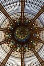 The iconic mosaic glass dome of the galeries lafayette in paris france Royalty Free Stock Photos