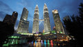 The Iconic Petronas Twin Towers in Kuala Lumpur, Malaysia Royalty Free Stock Photo