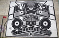 Iconic super duper sound system mural by joshua abram howard at the india street mural project in brooklyn new york may on may Royalty Free Stock Images
