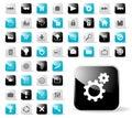 Icono brillante fijado para las aplicaciones del Web site Foto de archivo
