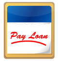 Icono del calendario del préstamo de la paga Fotografía de archivo libre de regalías