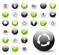 Iconos brillantes de la aplicación Foto de archivo