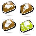 Iconos del alimento Foto de archivo