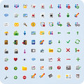 Iconos del Internet y de la aplicación Fotos de archivo