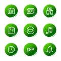 Iconos del Web del organizador Fotos de archivo