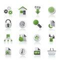 Iconos del Web site y del Internet Fotografía de archivo