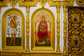 Iconostasis in the Orthodox Church Royalty Free Stock Photography