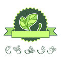 Icons 100% natural Royalty Free Stock Images