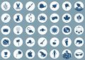 Icons 2 on blue Royalty Free Stock Photo