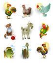 Icons of animals Stock Photo