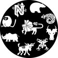 Icons of animals the illustration shows the abstract various wild Royalty Free Stock Photography