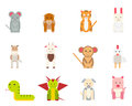 stock image of  Icons with animals