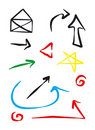 Icons and Arrows Royalty Free Stock Photo