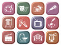 Icons of arts on buttons Royalty Free Stock Photography