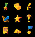 Icons for awards Stock Images