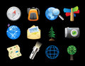 Icons for backpacking Stock Image