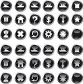 Icons Black Circle Royalty Free Stock Photo