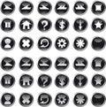 Icons Black Circle Royalty Free Stock Photo