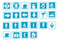 Icons blue Stock Photography