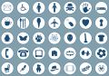 Icons on blue Royalty Free Stock Images
