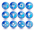 Icons in blue Royalty Free Stock Photo