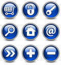 Icons in blue Stock Image