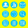 Icons business and finance illustration