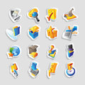 Icons for business and finance vector illustration Royalty Free Stock Photography