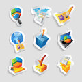 Icons for business and finance vector illustration Stock Photo