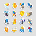Icons for business and finance vector illustration Royalty Free Stock Image