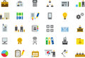 Icons for business, office and work Royalty Free Stock Photo