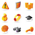 Icons for business security Stock Images