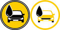 Icons with car and fuel oil drop Stock Image