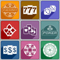 Icons casino multicolored relating to a Stock Image