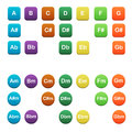 Icons with chords for guitar all basic major and minor Royalty Free Stock Image