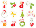 Icons - Christmas object Royalty Free Stock Photography