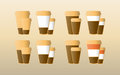 Icons coffee logo illustration Royalty Free Stock Photography